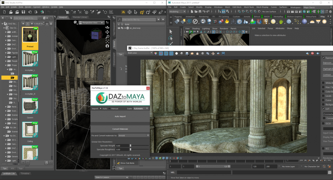 DazToMaya – 3DtoAll