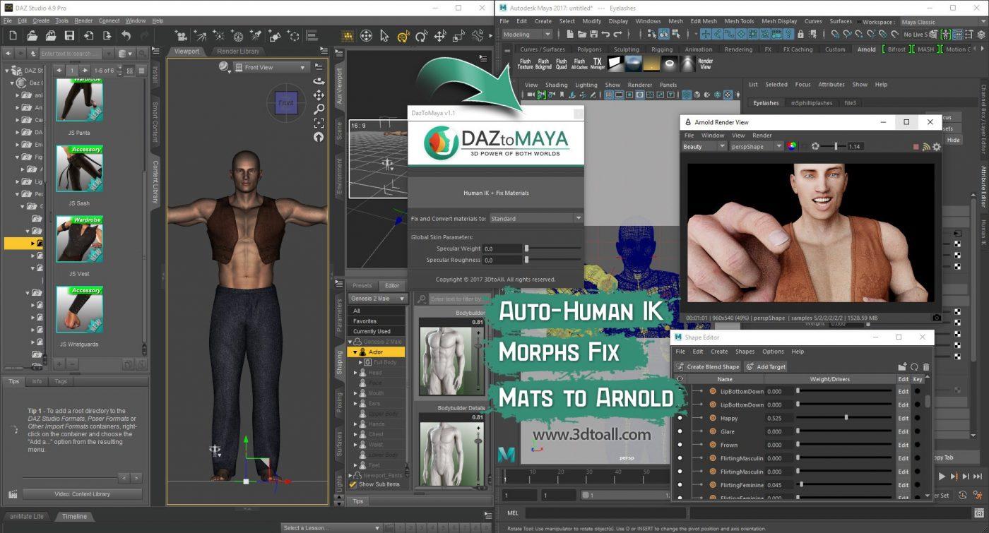 DazToMayab – 3DtoAll